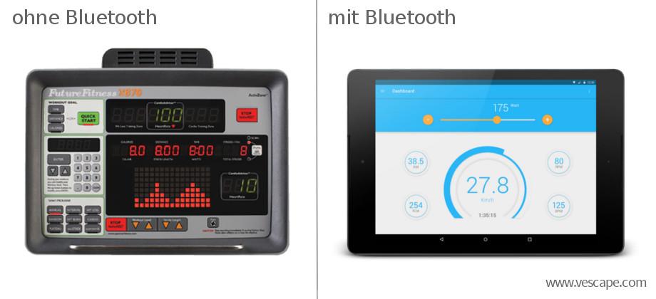 Ergometer-Konsole mit Bluetooth
