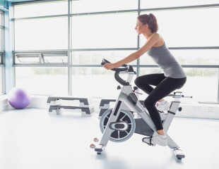 Exercise on a stationary bike