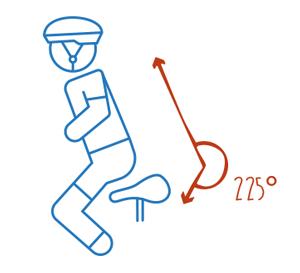 Richtige Position des Rückens auf dem Ergometer