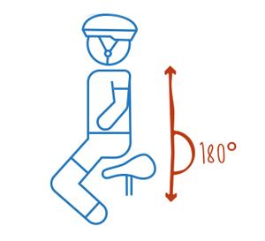 Sitzposition auf dem Ergometer