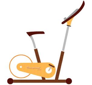 Vélo d'appartement en bois et en cuir