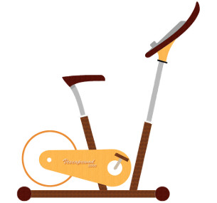 Wooden Exercise Bike